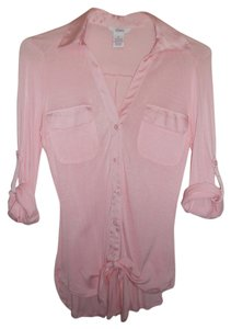Candie's Button Down Shirt Pink