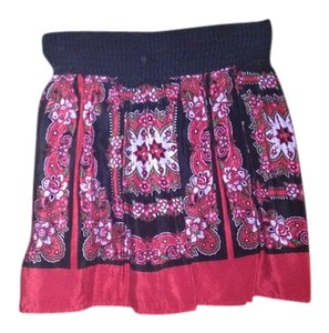 Kimchi Blue High Waist Mini Skirt Red