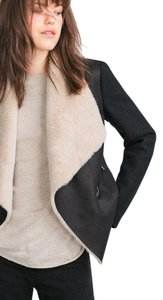 Zara Shearling Pea Coat