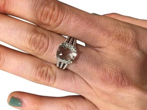 David Yurman David Yurman Petite Wheaton Ring with Prasiolite and Diamonds Ring Size 5-8 - LIKE NEW