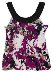 Ann Taylor Camisole Casual Office Top Purple, Black and White