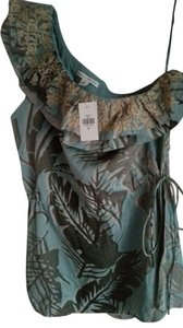 Banana Republic Top Green Multi