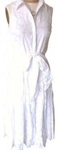 Ralph Lauren short dress White Summer Full Skirt Sash on Tradesy