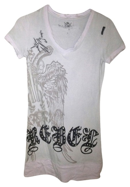 Rebel Spirit Dress T-shirt T-shirt Dress Shortsleeve Lavender Rhinestones Velvet Embellished T Shirt Purple