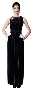 Anthropologie Velvet Sleeveless Silk Full Length Gown Dress