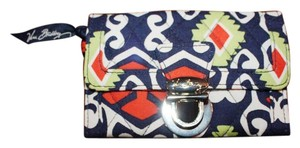 Vera Bradley Wristlet in Red, Navy, White, and Green