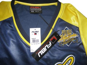 FUBU Throwback Xxl T Shirt Blue and Yellow