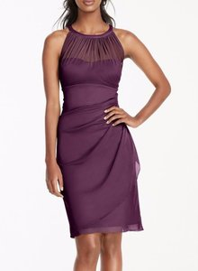 David's Bridal Plum F15612 Dress
