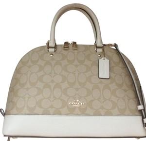 Coach New With Tags Nwt Satchel in Light Khaki / Chalk