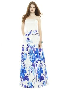 Alfred Sung White Bouquet D724cp Dress