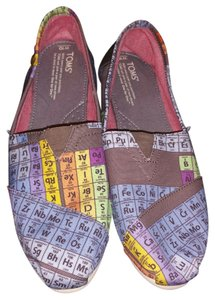 TOMS Vegan Classic Womens Science Multicolor Flats