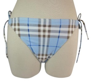 Burberry Blue Nova Check Bikini Bottom Sz: X L (8 to 12)