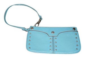 MICHAEL Michael Kors Studded Leather Wristlet in blue