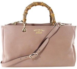 Gucci 323660 Leather Tote in Pink