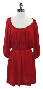 Joie short dress Red Scoop Neck 3/4 Sleeve on Tradesy