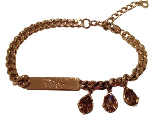 Dior Dior Gold ID bracelet with Tear Drop Crystals