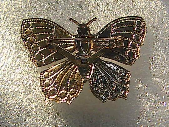 Vintage Gold Tone & Silver Tone Butterfly Pin / Brooch