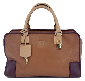 Loewe Brown Oxblood Leather Handbag Hobo Bag