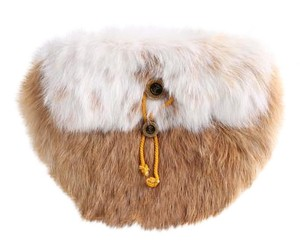 Other Faux Fur White/tan tan/white Clutch
