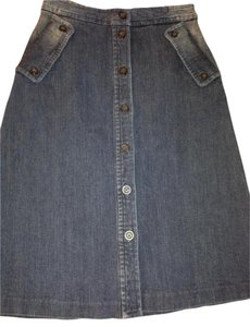 MICHAEL Michael Kors Front Skirt Medium Wash Denim