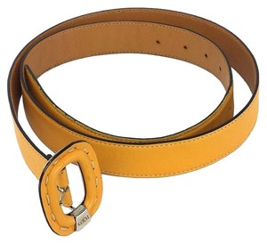 Tod's Yellow Leather Belt