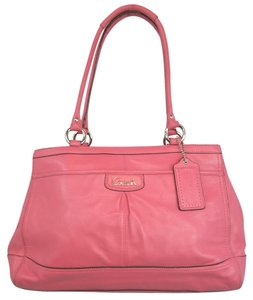 Coach Pink Leather Tote