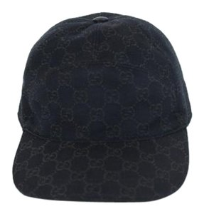 Gucci Gucci Hat Brown Leather 328055 Size Small