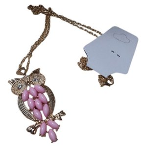 NWT Owl Charm long necklace