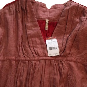Free People Red Blouse NWT Top Red Combo