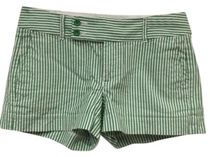 Banana Republic Mini/Short Shorts Green, White