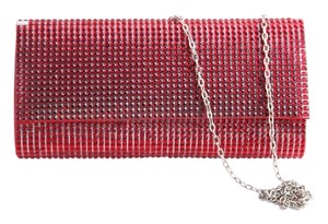 Crystals Evening red Clutch