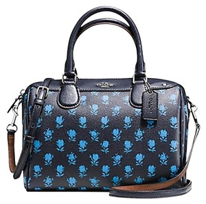 Coach New With Tags Nwt Floral Satchel in Midnight Multicolor