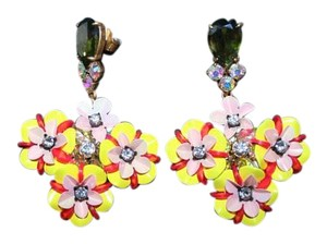 J.Crew J.CREW FUN FLORAL AND CRYSTAL EARRINGS F2855