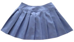 Le Coq Sportif Tennis Pleated Short Mini Skirt periwinkle