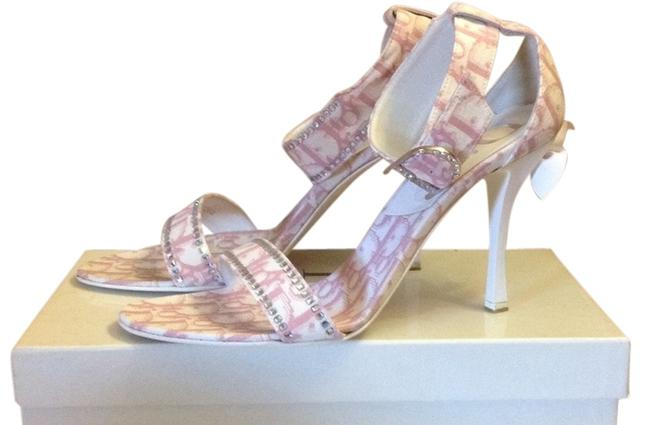 Item - Pink and White Girly Sandals Size US 9 Regular (M, B)