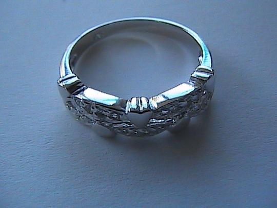 Unknown 925 Sterling Silver 0.5 carats Natural White Topaz Ring