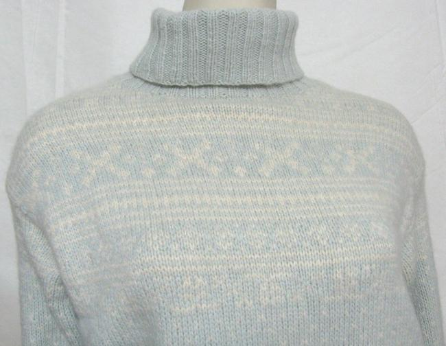 Saks Fifth Avenue Vintage 1980's Cashmere Turtleneck Size Small Thick Nordic Light Beige S 6 Winter Ice Snow Women Sweater