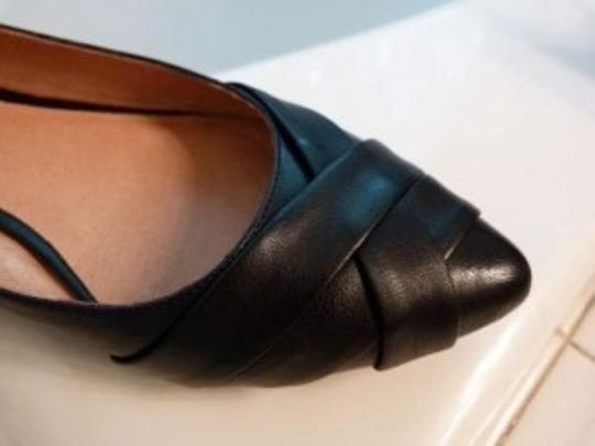 ALDO Pointed Unique Trendy Black Leather Flats