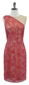 Erin Fetherston short dress Beige Pink Floral Lace on Tradesy