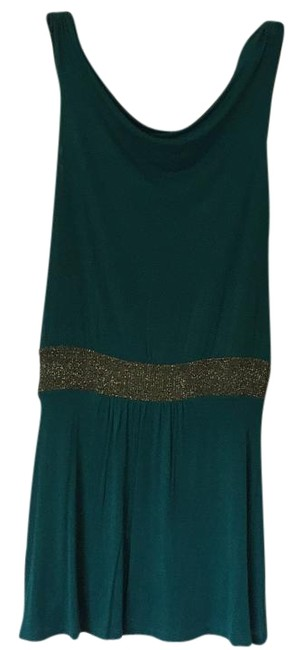 Item - Green Above Knee Night Out Dress Size 6 (S)