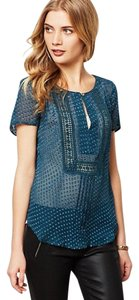 Anthropologie #meadowrue Top Teal