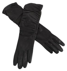 Other * Bergdorf Goodman Black Leather Gloves