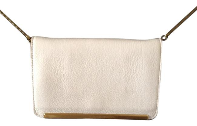 Item - Clutch Everyday White Leather Cross Body Bag