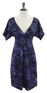 Rebecca Taylor short dress Violet Short Sleeve Floral on Tradesy