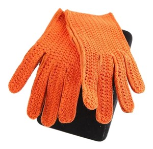 Other Orange lace/leather gloves
