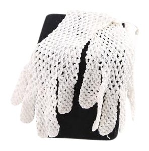 Other White Knitted Gloves