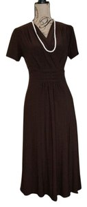 Brown Maxi Dress by Comfy Knee-length
