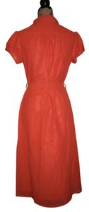 Mikarose short dress Coral Knee-length Cap-sleeves on Tradesy