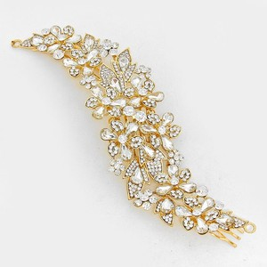 Sparkling Rhinestone Crystal Bridal Hair Comb Jewelry