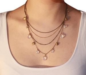 Express Layered Gold Gem Necklace